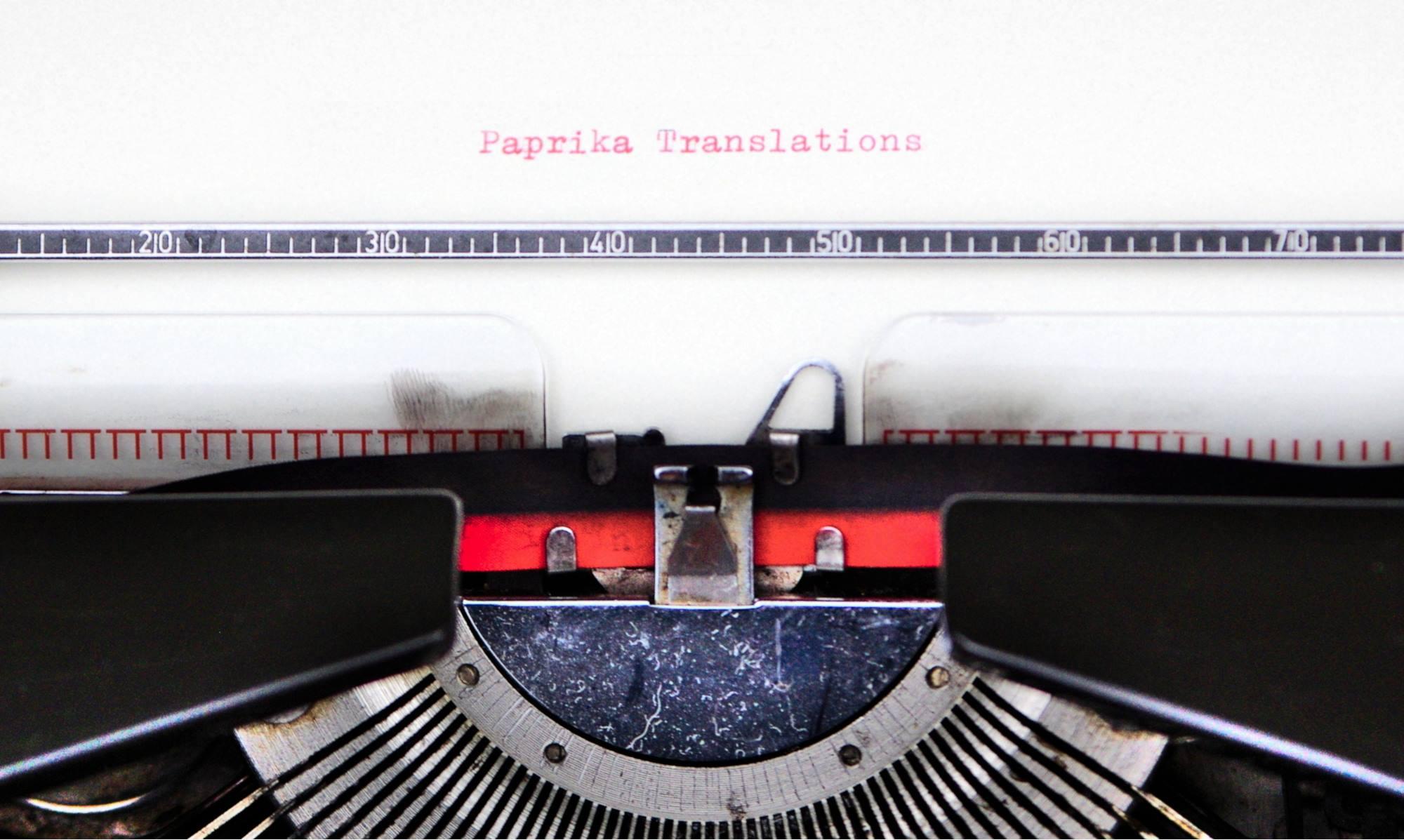 Paprika Translations